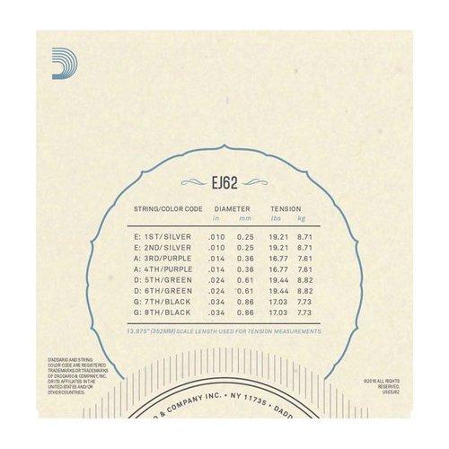 D'Addario D'Addario Mandolin String Set, 80/20 Bronze, EJ62 Light .010-.034