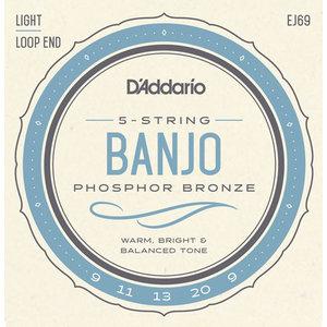 D'Addario 5-String Banjo String Set, Phosphor Bronze