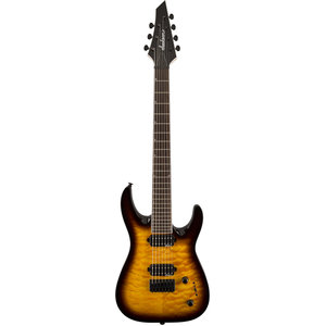 Jackson JS Series Dinky Arch Top JS32-7Q, 7-String, Tobacco Burst