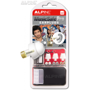 Alpine MusicSafe Pro Earplugs, White w/ Case