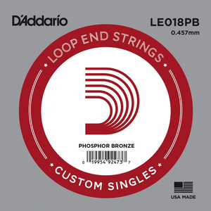 D'Addario Single String, Phosphor Bronze, Loop End