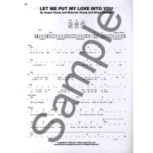 Hal Leonard AC/DC For Ukulele