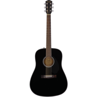 Fender CD-60S Dreadnought, Solid Spruce Top, Mahogany Back, Black