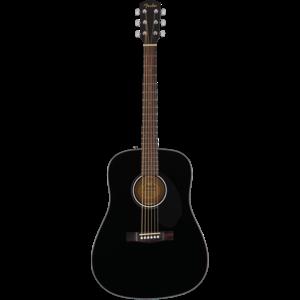 Fender CD-60S Dreadnought, Solid Spruce Top, Mahogany Back, Black