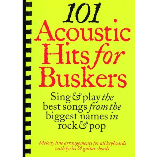 Wise Publications 101 Acoustic Hits For Buskers