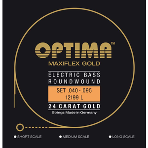 Optima Maxiflex Gold Bass String Set, .040-.095 Long Scale