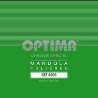 Optima Mandola String Set, Chrome Special Polished, Loop End, .019-.060