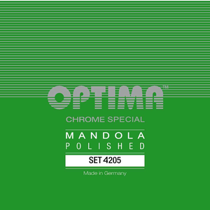 Optima Mandola String Set, Chrome Special Polished, Loop End, .019-.060