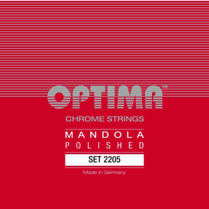 Optima Mandola String Set, Chrome Polished, Loop End, .019-.060