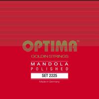 Optima Mandola Goldin String Set, Polished, Loop End, .019-.060