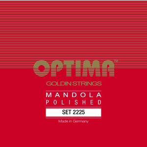Optima Mandola Goldin String Set, Polished, Loop End, .019-.060
