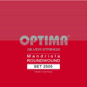 Optima Mandriola (High Octave) String Set, Silver, Loop End