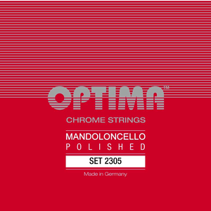 Optima Mandocello String Set, Chrome, Loop End, .022-.077