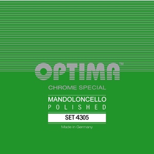 Optima Mandocello String Set, Chrome Specially Polished, Loop End, .010-.036