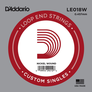 D'Addario Single String, Nickel Wound, Loop End