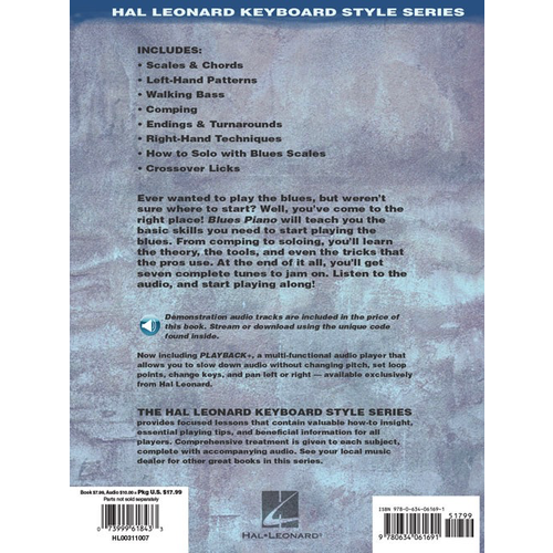 Hal Leonard Blues Piano: The Complete Guide with Online Audio