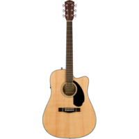 Fender CD-60SCE Electro-Acoustic Dreadnought, Solid Spruce Top, Mahogany Back, Natural