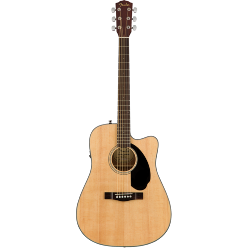 Fender Fender CD-60SCE Electro-Acoustic Dreadnought, Solid Spruce Top, Mahogany Back, Natural