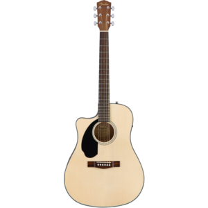 Fender CD-60SCE Left-Handed Electro-Acoustic Dreadnought, Solid Spruce Top, Mahogany Back