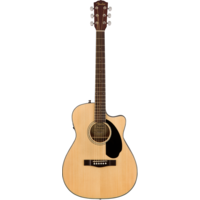 Fender CC-60SCE Electro-Acoustic Concert Guitar, Solid Spruce Top, Mahogany Back, Natural