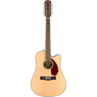 Fender CD-140SCE-12 12-String Electro-Acoustic Guitar, Solid Spruce Top, Ovangkol Back w/ Case