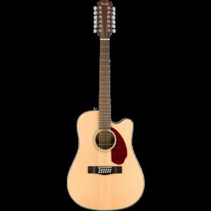 Fender CD-140SCE-12 12-String Electro-Acoustic Guitar, Solid Spruce Top, Ovangkol Back w/ Case