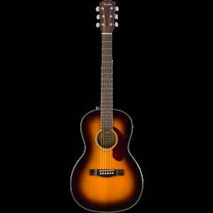 Fender CP-140SE Parlour Guitar, Solid Spruce Top, Rosewood Back, Sunburst w/ Case