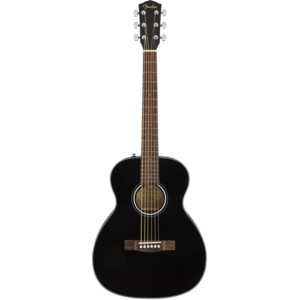 Fender CT-60S Travel Guitar, Solid Spruce Top, Mahogany Back, Black
