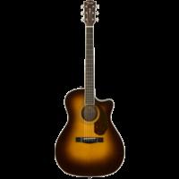 Fender Paramount PM-4CE Auditorium Limited, All Solid, Sitka Spruce/Mahogany w/ Hard Case, Vintage Sunburst