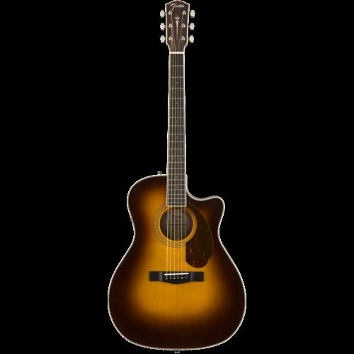 Fender Fender Paramount PM-4CE Auditorium Limited, All Solid, Sitka Spruce/Mahogany w/ Hard Case, Vintage Sunburst