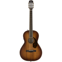 Fender Paramount PM-2E Parlour Limited, All Solid Mahogany w/ Hard Case, Aged Cognac Burst