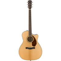 Fender Paramount PM-4CE Auditorium Limited, All Solid, Sitka Spruce/Mahogany w/ Hard Case, Natural