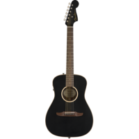 Fender Malibu Special, All Solid, Sitka Spruce Top, Mahogany Back, Matte Black w/ Gig Bag