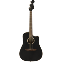 Fender Redondo Special, All Solid, Sitka Spruce Top, Mahogany Back, Matte Black w/ Gig Bag