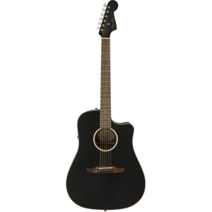 Fender Redondo Special, All Solid, Sitka Spruce Top, Mahogany Back, Matte Black w/ Gig Bag