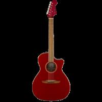 Fender Newporter Classic, All Solid, Sitka Spruce Top, Mahogany Back, Hot Rod Metallic w/ Gig Bag