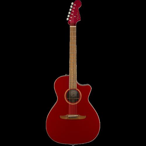 Fender Fender Newporter Classic, All Solid, Sitka Spruce Top, Mahogany Back, Hot Rod Metallic w/ Gig Bag