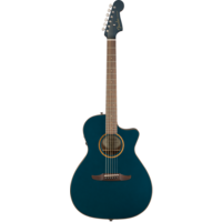 Fender Newporter Classic, All Solid, Sitka Spruce Top, Mahogany Back, Cosmic Turquoise w/ Gig Bag