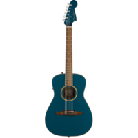 Fender Malibu Classic, All Solid, Sitka Spruce Top, Mahogany Back, Cosmic Turquoise w/ Gig Bag