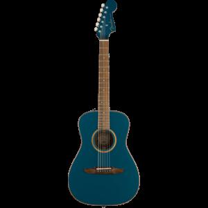 Fender Malibu Classic, All Solid, Sitka Spruce Top, Mahogany Back, Cosmic Turquoise w/ Gig Bag