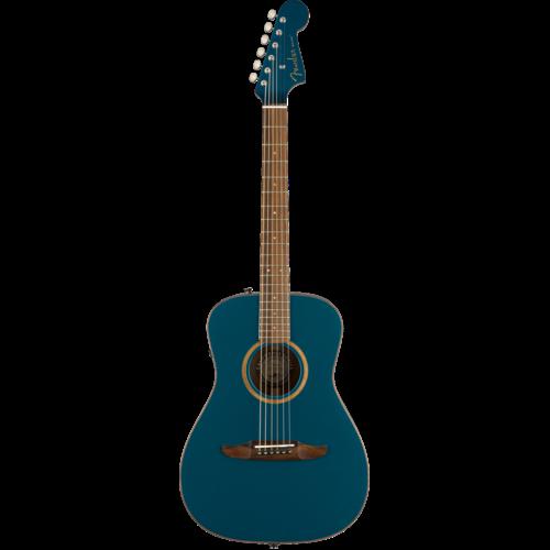 Fender Fender Malibu Classic, All Solid, Sitka Spruce Top, Mahogany Back, Cosmic Turquoise w/ Gig Bag