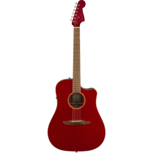 Fender Redondo Classic, All Solid, Sitka Spruce Top, Mahogany Back, Hot Rod Metallic w/ Gig Bag