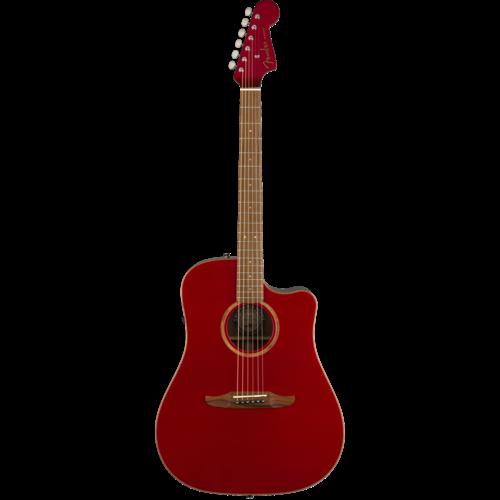 Fender Fender Redondo Classic, All Solid, Sitka Spruce Top, Mahogany Back, Hot Rod Metallic w/ Gig Bag