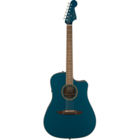 Fender Redondo Classic, All Solid, Sitka Spruce Top, Mahogany Back, Cosmic Turquoise w/ Gig Bag