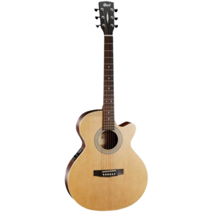 Cort SFX-ME OP Electro-Acoustic Folk Size Guitar, Solid Spruce Top, Mahogany Back, Open Pore