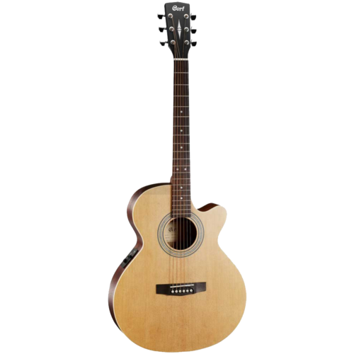 Cort Cort SFX-ME OP Electro-Acoustic Folk Size Guitar, Solid Spruce Top, Mahogany Back, Open Pore