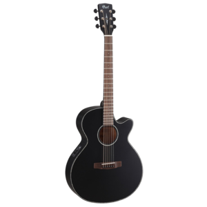 Cort SFX-E Electro-Acoustic Folk Size Guitar, Solid Spruce Top, Mahogany Back, Black