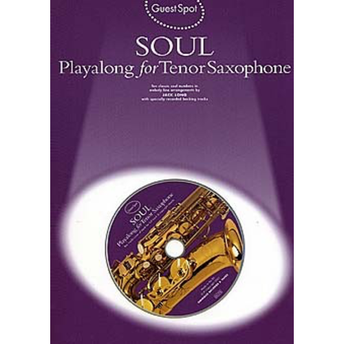 Wise Publications Guest Spot: Soul Playalong For Tenor Saxophone