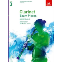 ABRSM Exam Pieces 2014-2017 Grade 3 Clarinet/Piano (Book Only)