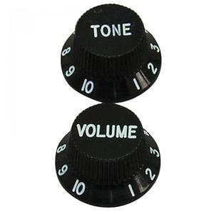 Guitar Tech Strat Style Knobs, Black